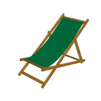 Deck Chair H NONEY-coloured varnish